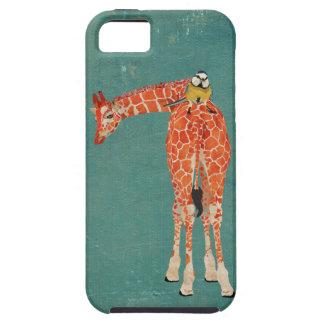 Amber Giraffe & Little Blue Bird Case iPhone 5 Case