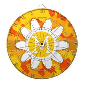 Amber Orange Camo Daisy Dart Boards
