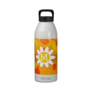 Amber Orange Camo Daisy Drinking Bottle