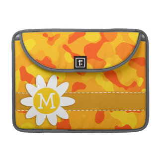 Amber Orange Camo Daisy MacBook Pro Sleeve