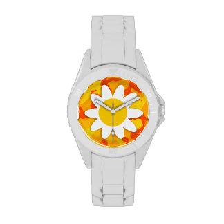 Amber Orange Camo Daisy Wristwatch