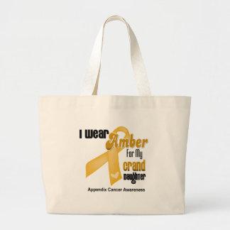 Amber Ribbon For My Granddaughter - Appendix Cance Jumbo Tote Bag
