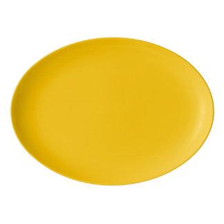 Amber Solid Colour Customise It Porcelain Serving Platter