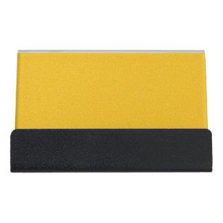 Amber Star Dust Desk Business Card Holder