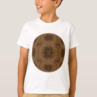 Amber Webs Kaleidoscope Mandala T-Shirt