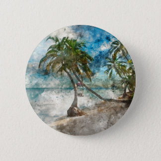 Ambergris Caye Belize Travel Destination 6 Cm Round Badge