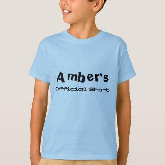 Amber's, Official Shirt