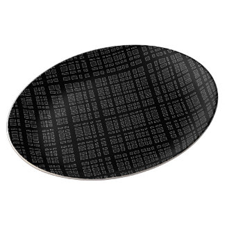 Ambient 32 - Designer black and white Plate
