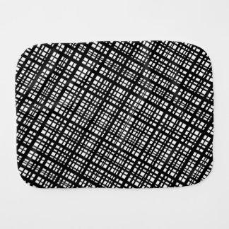 Ambient 35 - Designer black and white diagonals Burp Cloth