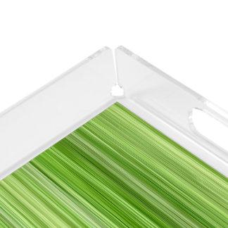 "Ambient 3 Green, Original modern design ""Key Lime"" Acrylic Tray"