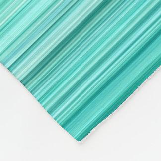 Ambient #5 Teal, original modern stripped pattern Fleece Blanket
