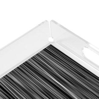 Ambient 6, Original black and white designer art Acrylic Tray