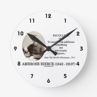 Ambrose Bierce Recollect The Devil's Dictionary Wallclock