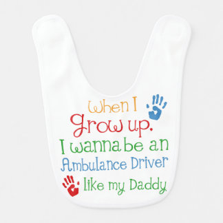 Ambulance Driver Like My Dad Baby Bib