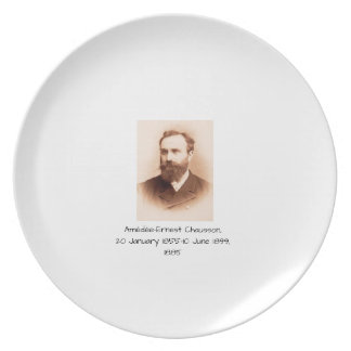 Amedee-Ernest Chausson Plate