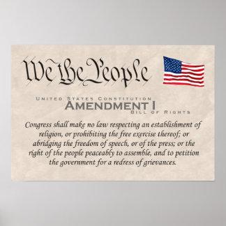 Amendment I Poster