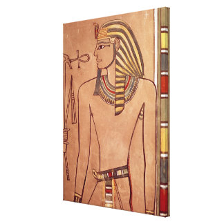 Amenhotep II  with an ankh raised to his lips Canvas Print