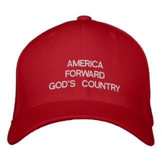 AMERICA FORWARDGOD'S COUNTRY EMBROIDERED BASEBALL CAPS