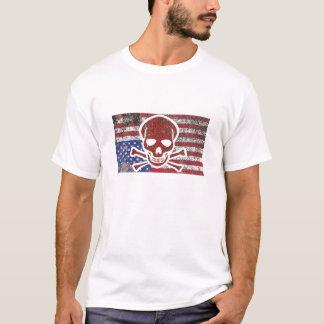 America in Distress Skull T-Shirt