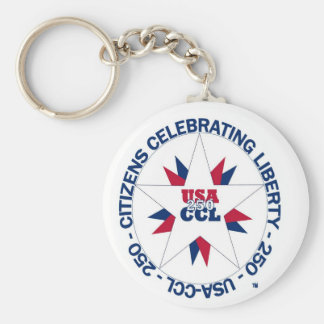 America's 250th or CCL Birthday in 2026 Key Ring
