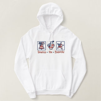 America the Beautiful Embroidered Hoodie