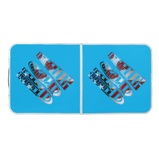 America USA Tailgate Party Custom Beer Pong Table