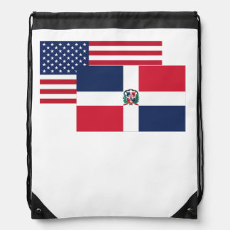 American And Dominican Flag Backpack