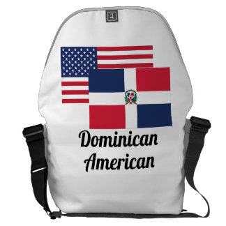 American And Dominican Flag Courier Bags