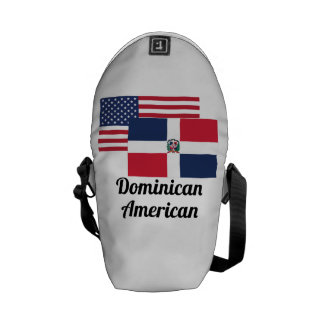 American And Dominican Flag Messenger Bag
