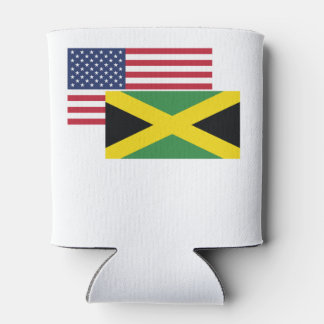 American And Jamaican Flag Can Cooler