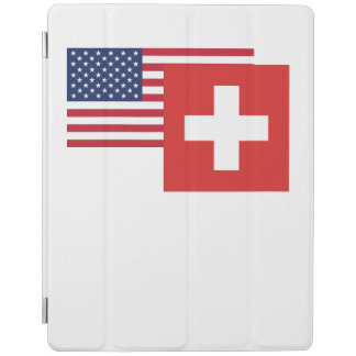 American And Swiss Flag iPad Cover