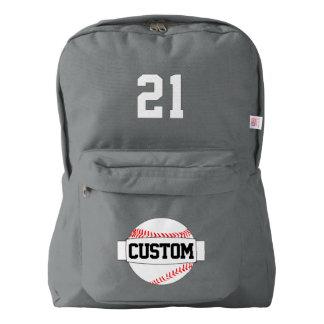 American Apparel Baseball Name and Number Backpack