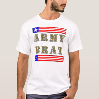 American Army Brat (Camo Text). T-Shirt