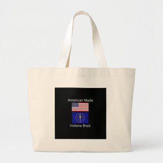 """American Born..Indiana Bred"" Flags and Patriotism Large Tote Bag"