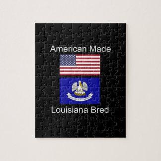 """American Born..Louisiana Bred"" Flag Design Jigsaw Puzzle"