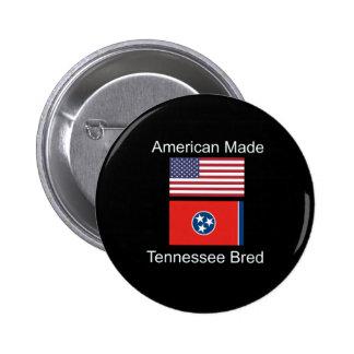 """American Born..Tennessee Bred"" Flag Design 6 Cm Round Badge"
