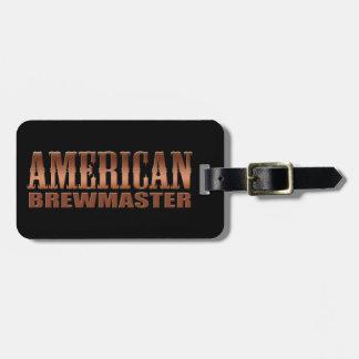 american brewmaster home brewer beer luggage tag