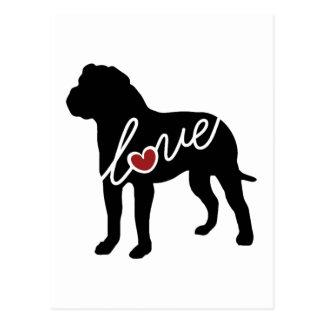 American Bulldog (Bully) Love Postcard