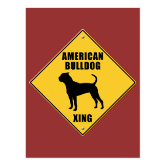 American Bulldog Crossing (XING) Sign Postcard