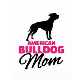 American Bulldog Mom Postcard
