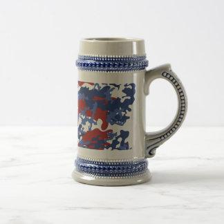 American Camo Beer Stein Mug