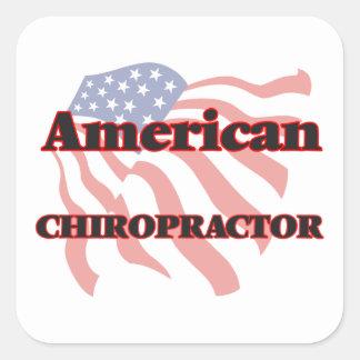 American Chiropractor Square Sticker