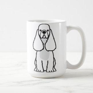American Cocker Spaniel Dog Cartoon Coffee Mug