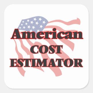 American Cost Estimator Square Sticker