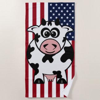 American Cow Beach Towel