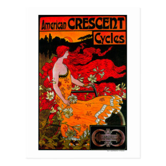 American Crescent Vintage PosterEurope Post Card