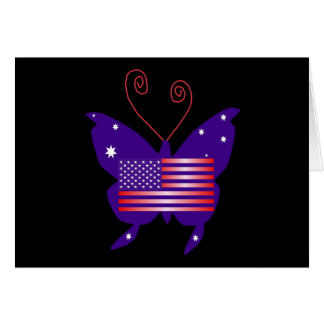 American Diva Butterfly Card