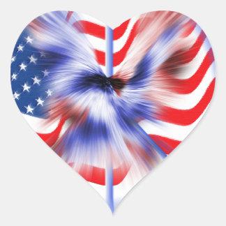 American Eagle Heart Stickers