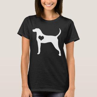American English Coonhound Heart Dark T-Shirt