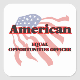 American Equal Opportunities Officer Square Sticker